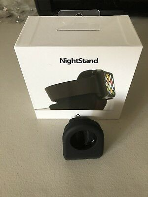 Night Stand Apple Watch Elevation Lab Docking Station Charger Holder Black