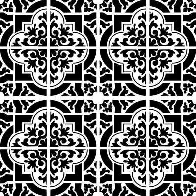 Moroccan Pattern Tile BIG SIZES Reusable Stencil Wall Decor Travel Global Moroc1