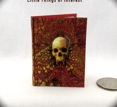 1:6 Scale MANUAL OF SPELLS AND ALCHEMY Readable Illustrated Miniature Book Grimm