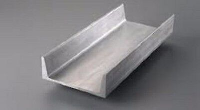 """6061 12"""" Aluminum Channel - 5"""" legs x 3/8"""" web thickness - 48"""" long"""