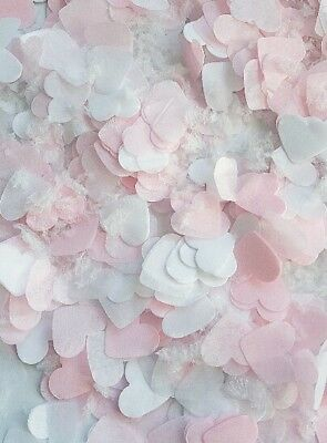WINTER Edition SNOWFETTI + Light Pink and White Heart Confetti for wedding party