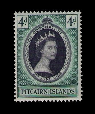Pitcairn Islands 1953 QEII Coronation Sc # 19 MLH