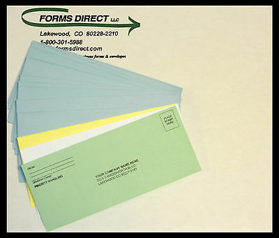 """1000 - #9 Custom Printed Return Envelopes - 8.75"""" x3.75"""" - Four Colors Available"""