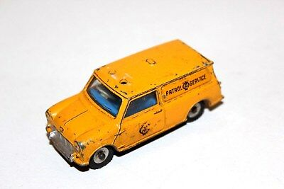 Dinky Toys Yellow Mini Minor AA SERVICES Patrol Van # 274 Spun Hubs