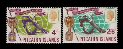 Pitcairn Islands 1966 World Cup Soccer issue Sc# 60-1 Cpl. MH set ,CV:$8.00