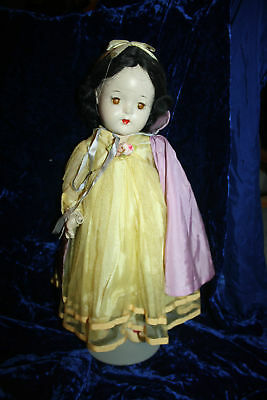 "16"" Vintage Composition Madame Alexander Snow White Walt Disney doll Hand tag"