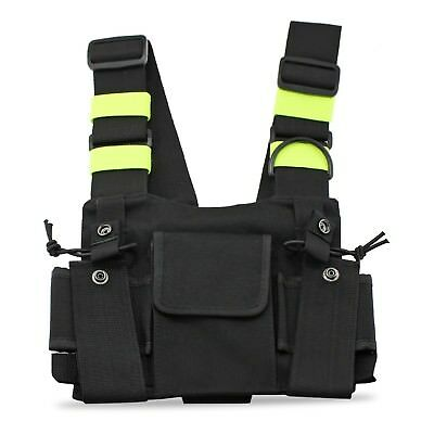 abcGoodefg Radio Chest Harness Front Pack Pouch Holster Vest Rig for 2Way Walkie