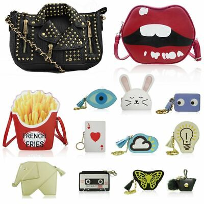 Women's Novelty Handbags Quirky Girls French Fries Clutch Evil Eye Purses