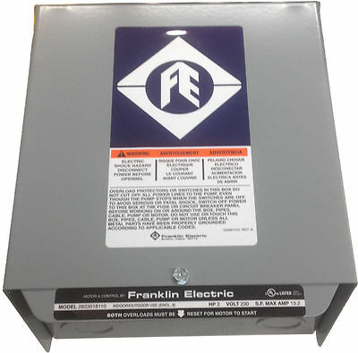 Franklin Electric 2 Hp Control Box Well Pump Controller