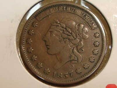 1837 Hard Times Token Millions For Defence Not One Cent For Tribute VF brown