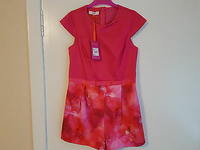 New With Tag Ted Baker Mock Print Girls Playsuit Age 13