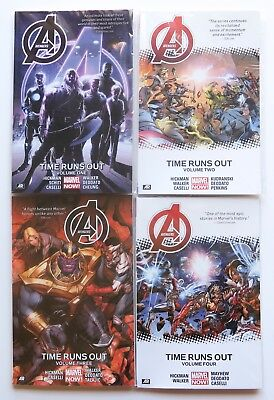 Avengers Time Runs Out Vol 1 2 3 & 4 NEW Marvel Now Graphic Novel Comic Book Lot