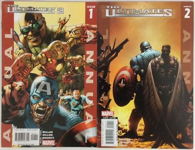 Ultimates 2 Annuals #1 & #2 (Marvel 2005) NM condition.