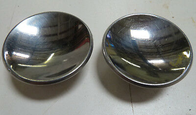"2 Vintage Mid Century 2"" Chrome Drawer Knob Cabinet Door Pull Concave"