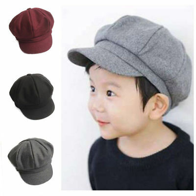 Kids Baby Beret Cap Toddler Dome Hat Boy Girl Baseball Vintage Party Hat J0454