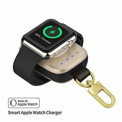 Portable Wireless Charger 700 mAh LED Pocket Sized for Apple Watch Series 3 Gold