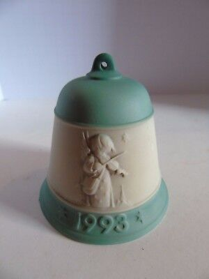 MJ HUMMEL GOEBEL 1993 Green CHRISTMAS BELL ORNAMENT #779 1st EDITION Germany