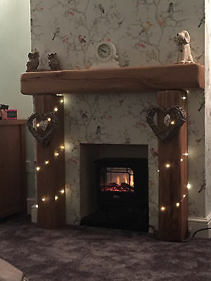 """Solid Oak Fireplace Surround, Made to MEASURE!!! - 6"""" x 6"""" SOLID RUSTIC OAK BEAM"""