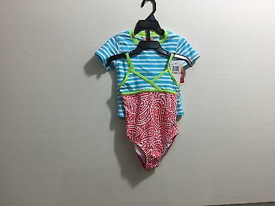 Tommy Bahama toddler girls size 2T one piece swimsuit with matching t-shirt top