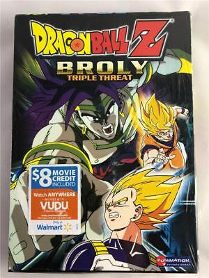 DragonBall Z Broly Triple Threat 3-Pack DVD 2006, 3-Disc Wal-Mart Edited Edition
