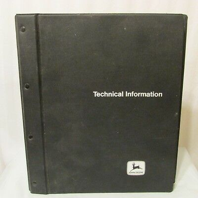 John Deere Tractor Technical Manual 8100-8400 6100-6400 w Binder