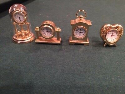 Collectible Mini Clock Lot of 4, Times Square, Rumours, Milan,