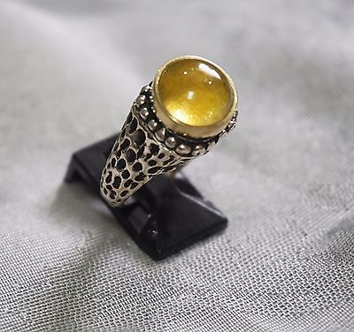 Citrin Good quality Braid Ring in Sterling Unisex Antique style Natural Gifts