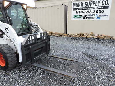 "NEW 2017 CID Xtreme 48"" Walk Through Pallet Forks Skid Steer Loader For Bobcat !"