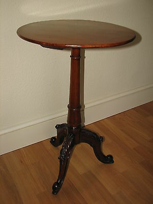 Victorian Mahogany Side Table with ornately carved legs