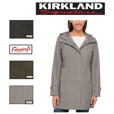 SALE! NWT Women's Kirkland Signature Trench Rain Coat Hood SIZE & COLOR VARIETY