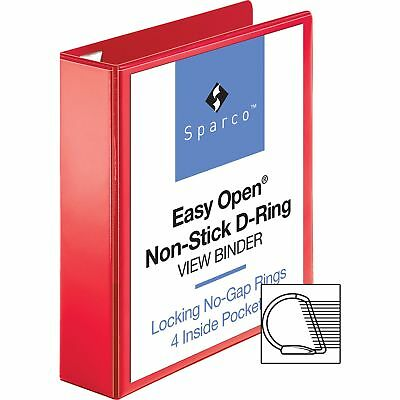 """Sparco D-Ring View Binder, 2"""" Capacity, 11""""x8-1/2"""", Red 26981"""