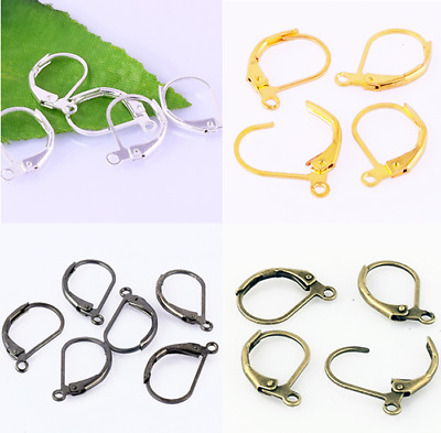 Wholesale Lot French Lever Back Earring Hook Clasps Jewelry Findings Accessories