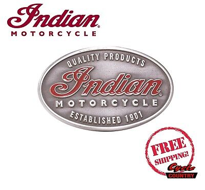 "Genuine Indian Motorcycle Men's Belt Buckle ""emblem"" Scout Chief Roadmaster New"