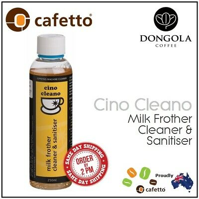 Milk Frother Cleaner Sanitiser for Espresso Coffee Machines Cafetto Cino Cleano