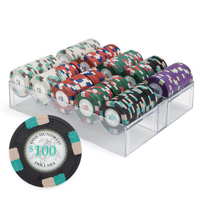 Brands 200ct Claysmith Gaming Poker Knights Chip Set in Acrylic