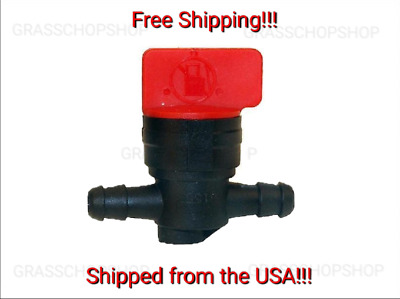 1/4inch Inline Straight Gas Fuel Shut/Cut Off Valve For Briggs & Stratton, Honda