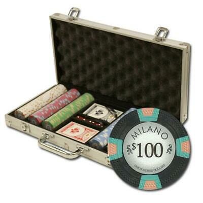 """300Ct Claysmith Gaming """"Milano"""" Chip Set in Aluminum Case"""