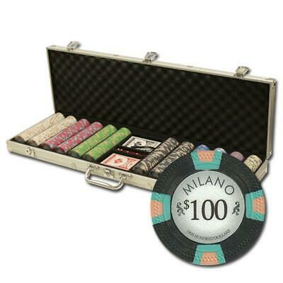 """600Ct Claysmith Gaming """"Milano"""" Chip Set in Aluminum Case"""