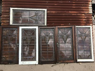 Old Rustic Timber Leadlight Window Panels 540w X 1100h Price Is Per Panel