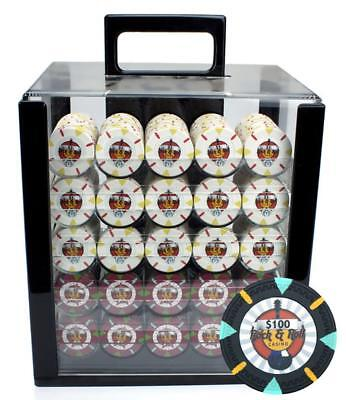 1000Ct Claysmith Gaming 'Rock & Roll' Chip Set in Acrylic