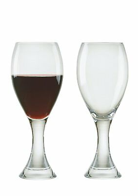 Anton Studio Manhattan Red Wine Glasses Set of 2 Clear Contemporary Gift Boxed