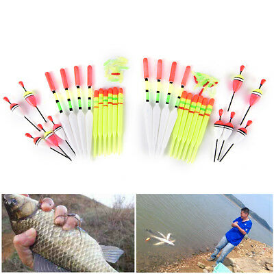 2 set  Vertical Buoy Sea Fishing Floats Assorted Size Rubbers Fishing Lure Fad