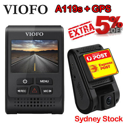 Viofo A119S+GPS Dashcam best selling dash camera in AU 1080p 60FPS Express Post!