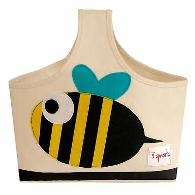 3 Sprouts Baby / Kids Bedroom Storage Caddy - Black and Yellow Bee