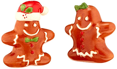 Salt and Pepper Shaker Lenox Gingerbread Couple Christmas Decorative Collectible