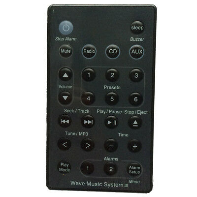 New Remote (Black) For Wave Radio/CD Music System  AWRC-C2 AWRC-C3 C2O7