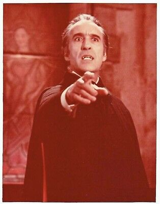 """8""""x10"""" COLOR still, CHRISTOPHER LEE as DRACULA"""
