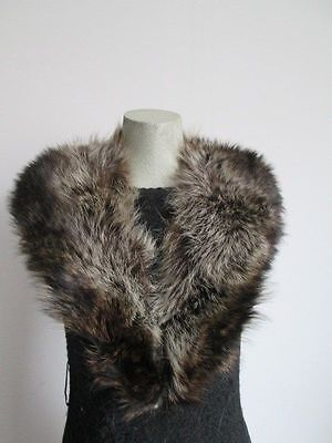 Women's Raccoon Fur Collar EXCELLENT  Coat Raincoat Detachable
