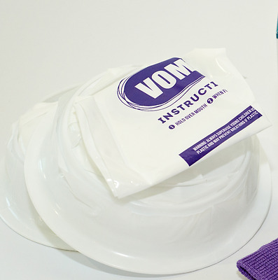10 Morning Sickness Vomit (emesis) bags - twist and seal