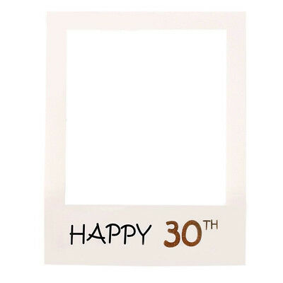 30th Happy Birthday Party Paper Frame Anniversary Photo Booth Props On a Stick